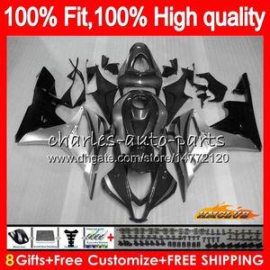 Injection For HONDA grey silvery CBR600RR CBR600 CBR 600 RR CC 2007 08 67NO.135 100%Fit CBR600F5 600RR CBR 600F5 600CC F5 07 2008 Fairings