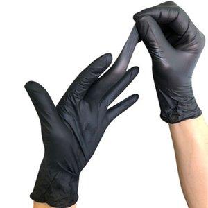 100шт одноразовые нитриловые латексные перчатки домашние пищевые перчатки универсальные бытовые садовые перчатки для чистки противоскользящие резиновые перчатки DBC BH3298