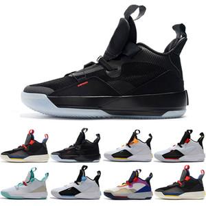 Scarpe da pallacanestro per uomo all'ingrosso XXXIII PF 33 Future of Flight alta qualità 33 Tech Pack 33s Sneaker nere grigio scuro Smoke Sail