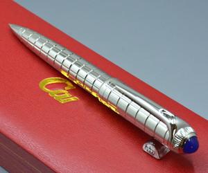 Lüks Cartlers Marka Gümüş Metal ızgara Tükenmez kalem Tükenmez kalemler Doğum Günü Hediyesi Olarak Yüksek kaliteli kırtasiye ofis okul malzemeleri