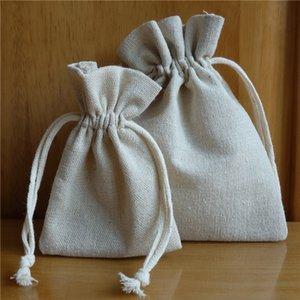 """Packung mit 50 Baumwollleinentragetasche 10x15 / 4 """"x 6"""" Weihnachts Sachets Süßigkeit Sack Hochzeitsfestbevorzugung Beutel Schmuckbeutel Verpackung"""