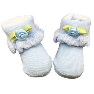Soft born Baby Infant Boy Girl Cotton Socks 0~6 Month Flower Lace Ankle Socks
