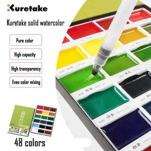 ZIG Kuretake alta calidad 48 colores de acuarela pigmento de pintura sólido Campo dibujo boceto de Pintura Art Supplies