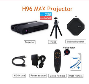 H96 MAX projector 2G+16G Amlogic S912 bluetooth4.1 150 lumens Android6.0 pocket prini mojector