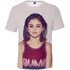 Sel t shirt Selena Gomez short sleeve tops Marie star colorfast tees Unisex print clothing All size color tshirt