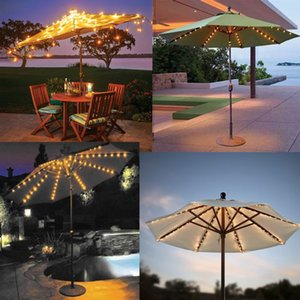 Outdoor Umbrella Light String LED Battery Light Garden Lawn Beach Umbrella Light with Christmas Day Decoration Lantern