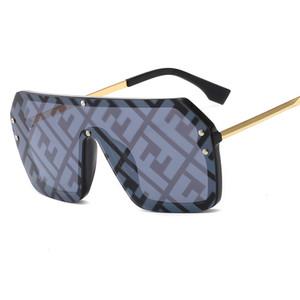 Буква F Солнцезащитные очки New Сиамские солнцезащитные очки европейских и американских большой кадр Пара Модель UV400 моды Солнцезащитные очки
