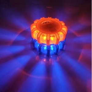 Voyants d'urgence de voiture à LED Lumières de route Avertissement de nuit Lumières de la route Disque en bordure de route Balise rouge bleu