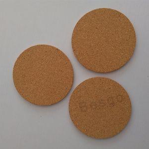 Posavasos de corcho redondo clásico de madera lisos estera de la taza de la bebida Tabla envoltura de café taza de té de la cocina casera Mats La Barra de Herramientas adaptable del logotipo DBC BH2781