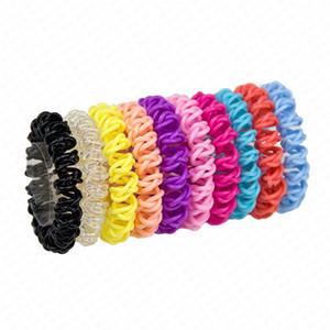 Trois Croix téléphone Cordon Anneau cheveux pour les femmes élastique clair printemps Bandeaux caoutchouc Cordes filles Accessoires de cheveux D62801