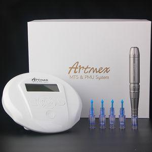 Перманентный макияж машина татуировки Artmex V6 для глаз бровей губ Ротари Pen МТС ПМУ системы цифровая панель управления микропигментации устройства