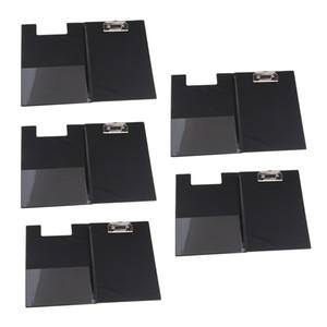5x A5 Boyut Dosya Kapak Klasör Pano Siyah, Kağıt Clip ile Belge Organizatör