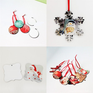 Sublimation Blanks Snowflake Pendant Customized Photo DIY Christmas Tree Hanging Ornaments Festive Many Style Articles 2 1bda UU