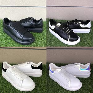 플랫폼 스타일 신발 파티 드레스 숙녀 분들 여성 패션 신발은 흰색 검은 황금 벨벳 반사 가죽 캐주얼 스니커즈 36-44 망