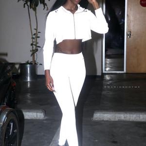 Fashion Casual Reflective Sweatshirts Ladies Solid Short Zipper Drawstring Hoodies Women Summer Thin Slim Section Hoodies Female