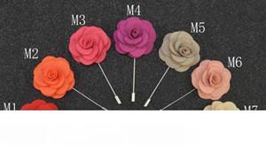 Pins broches artesanal frisado flor de feltro Flower lapela Boutonniere 14 cores Vara Pin Garment acessórios pin frete grátis