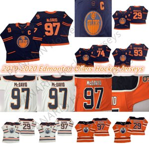 Edmonton Oilers 2019-2020 Third Jersey 97 Connor McDavid 99 Wayne Gretzky 29 Leon Draisaitl 93 Ryan Nugent-Hopkins Hockey Jerseys
