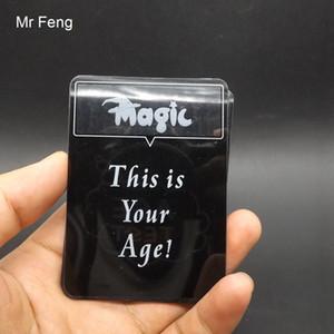 Magic Show Age Test Card Props Close-Up Magic Tricks Toys ( Model Number MT040 )
