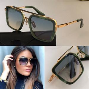 Nouveau design de luxe lunettes de soleil sept hommes TOP style mode vintage cadre carré extérieur lunettes de lentille UV 400 protection avec étui