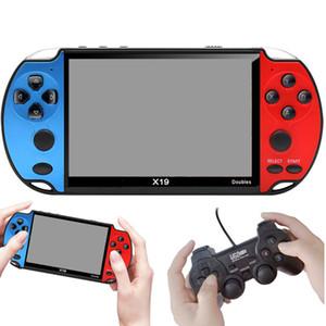 X19 doble jugadores de 4,3 pulgadas de alta definición de la pantalla 8G de almacenamiento de la consola de juegos 16/32/64/128 Bit Arcade FC Juegos de doble balancín TV Video MP5 juego portátil Box