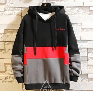 Panelled Male Clothing Letter Printed Mens Designer Hoodies Long Sleeve Crew Neck Casual Tops Multi Color
