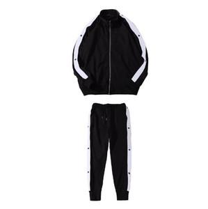 Men New Tracksuits Sweat Suits Mens Tracksuits Jogger Suits Jacket + Pants Sets Sporting Suit Men Fashion Letter Print Two Pieces Set