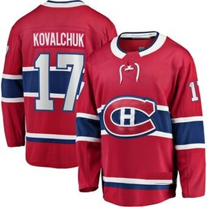 2020 Montreal Canadiens Ilya Kovalchuk Eishockey Trikots Startseite Red 100. Klassische # 17 Ilya Kovalchuk genähtes Hockey Shirts