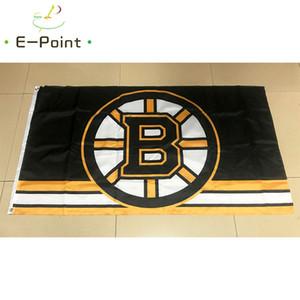 Drapeau de Boston Bruins 3 * 5 pi (90cm * 150cm) Polyester drapeau décoration bannière de vol jardin maison