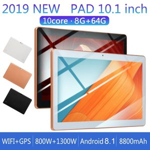 KT107 Plastic Tablet 10.1 Inch HD Large Screen Android 8.10 Version Fashion Portable Tablet 8G+64G Gold Gold EU Plug car