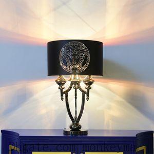 Table Lamp LED Bedlamp Quarto Sala Laser Designs Deusa Desk Lamp cabeceira Abajur Preto Mesa de Luz Noite Reading Início Li Indoor
