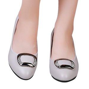 JAYCOSIN Schuhe Frauen quadratischer Kristall Heel Damen Freizeit-Beleg auf Loafers Mode formale Einzel Schuhe