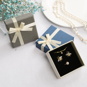Bracelet Rings Boxes Jewelry Box with Sponge Earrings Necklace Gift Boxes With Bowknot 2pcs a lot Jewelry Oragnizer Display