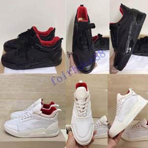 الجديدة 2020 مصمم أحذية رياضية المسامير أوريليان شقة مدرب الأحمر الرجال أسفل حذاء اسود أوريليان احذية عادية في الهواء الطلق المدرب جودة الكمال