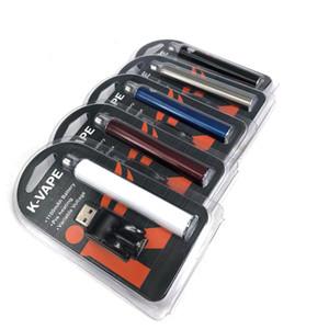 vendita all'ingrosso K-VAPE 1100mAh batteria di preriscaldamento con USB wireless ego 510 caricabatterie Kit voltaggio regolabile Batteria penna vaporizzatore penna O batteria