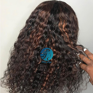 1B 30 Highlight 360 Lace Frontal Wigs Pre Plucked Bleached Knots 150 Density Remy Brazilian Water Wave Colored Human Hair Wigs For Women