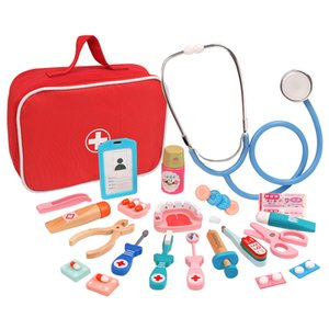 Wooden Baby Young CHILDREN'S Doctor Play House Model Doctor Toy Set GIRL'S Nurses Cloth Bag Doctor Toy