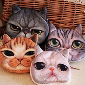 Charm2019 Ankunft Fantastische Nette Katze Gesicht Reißverschluss Fall Geldbörse Brieftasche Frauen Make-Up Buggy Tasche Pouch Geschenke