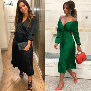 2020 New Womens Three Quarter Sleeve High Low Cocktail Party Dress Maxi Long Dress Party Dresses Robe Femme
