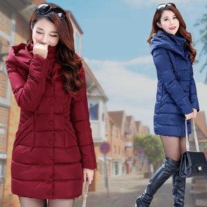 ZOGAA 2020 winter jacket women long slim thick cotton jacket 4 color warm cotton slim down winter coat women plus size