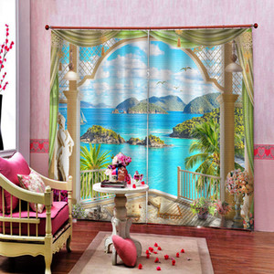 New Custom Window Curtain Print Curtains For The Living Room Bedroom Window landscape Kitchen Drapes