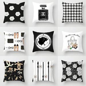 2020 Новая Женская наволочка современный минималистский черно-белый мода наволочка 45 * 45 см домашний диван подушка наволочка