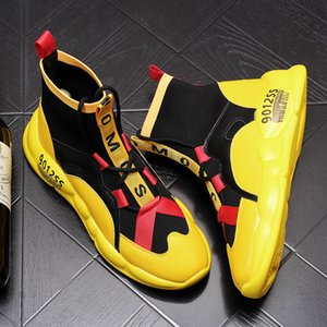 scarpe casual Knitting personalità autunno scarpe firmate da uomo studenti zapatillas degli uomini di lusso di tendenza giovanile traspirante HOMBRE 164