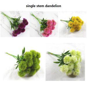 Único Caule Dandelion Plástico Dandelion Artificial Holiday Festival Decorações Da Tabela Do Partido Do Casamento 25 cm Decorações de Casa Dandelion Falsa