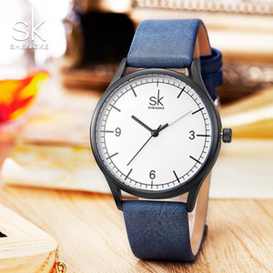 Часы женские Shengke бренд элегантные ретро часы Модные женские кварцевые часы часы женские повседневные кожаные женские Наручные часы