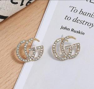 Lettera orecchini delle donne G con strass Fashion Party Girls Orecchini Delicate lega per le signore gioielli