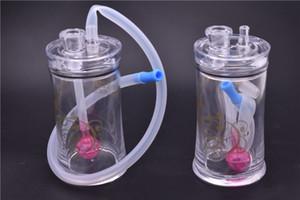 Novo Portátil plástico Bong Tubos De Água De Plástico De Vidro Bongo Filtro de Óleo para Tubos de Fumaça de Tabaco com 10mm tubo queimador de óleo