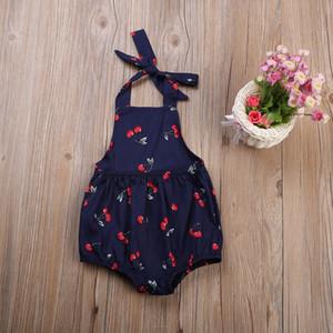 Neugeborenes Kleinkind Säuglingsbaby-Overall Bodysuit Outfits Kirsche Kleidung verfügt über eine einfachen und großzügigen komfortable CH