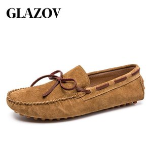Designer Suede Leather Lace Up Men Casual Shoes High Quality Soft Mens Loafers Moccasins Italian Fashion Driving Shoesdbcc#