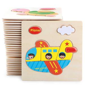 10pcs / lot 아이들을위한 나무 3D 퍼즐 퍼즐 장난감 만화 동물 차량 목재 퍼즐 지능 아이 아기 조기 교육 장난감 오우 - I01