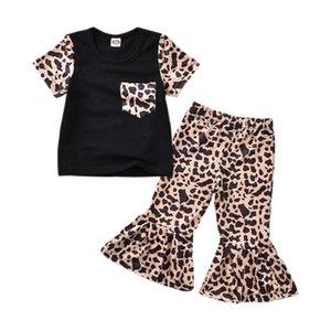 SAGACE 2 pièces Tenues pour enfant en bas âge layette imprimé léopard T-shirt + Fusées Pantalons Vêtements Ensembles pour enfants Vêtements fille